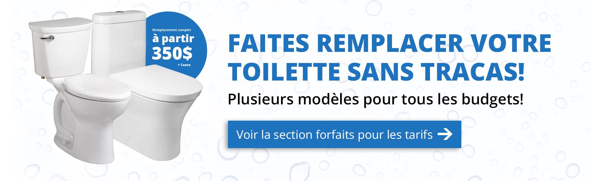 Remplacement toilette Québec et Lévis